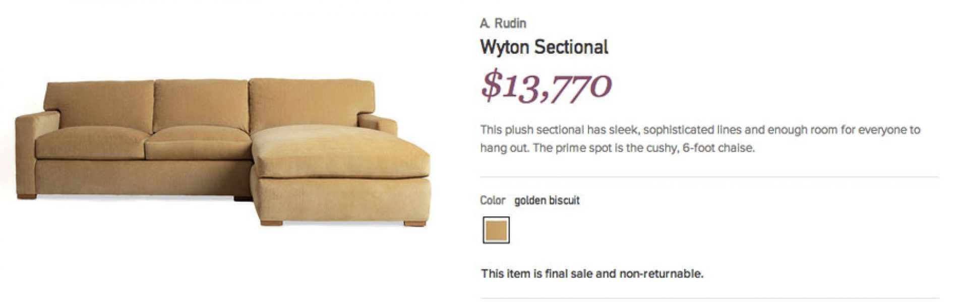 Great deal or Garage sale: Gilt.com Overpriced Couch – Who ...