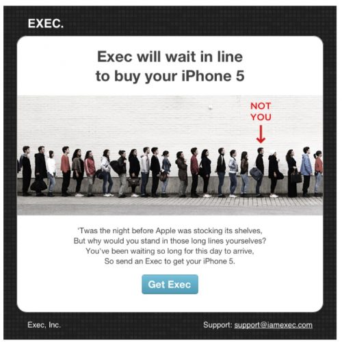 Exec will wait in line to buy your iphone 5