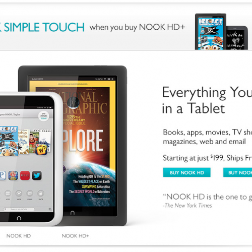 Struggling Barnes & Noble – Please, buy our tablet!