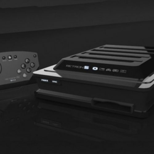 Retro Gaming Console Plays Old Sega And Nintendo Games