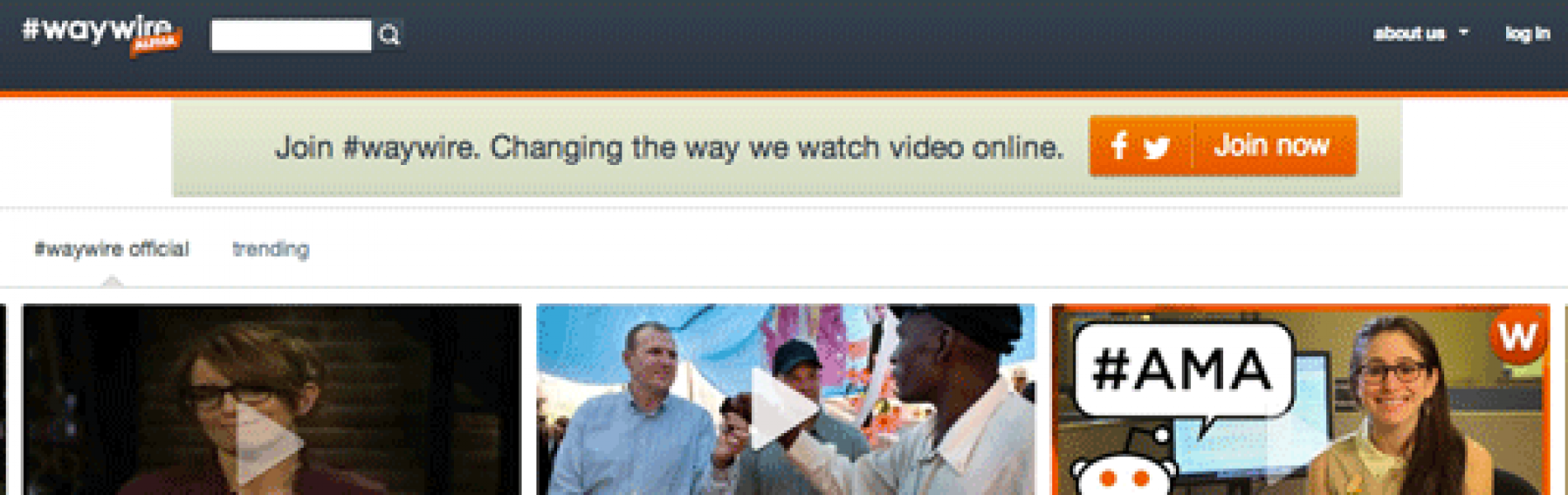 """REVIEW: Waywire.com claims they are """"Changing the Way We Watch Video Online""""."""