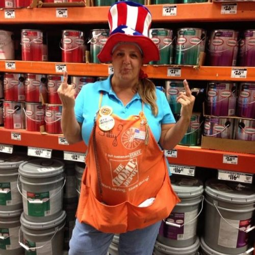 Home Depot Employee Behaving Badly