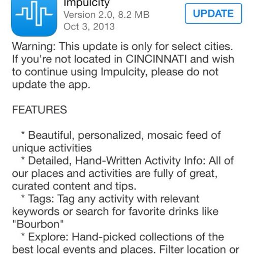 Impulcity: Here's how you don't update your software