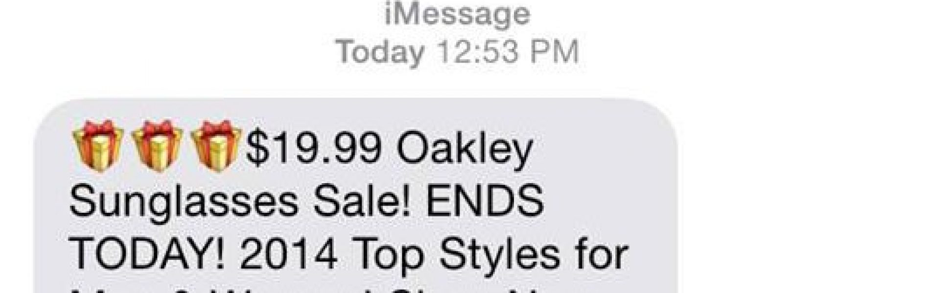 What does iMessage Spam look like?