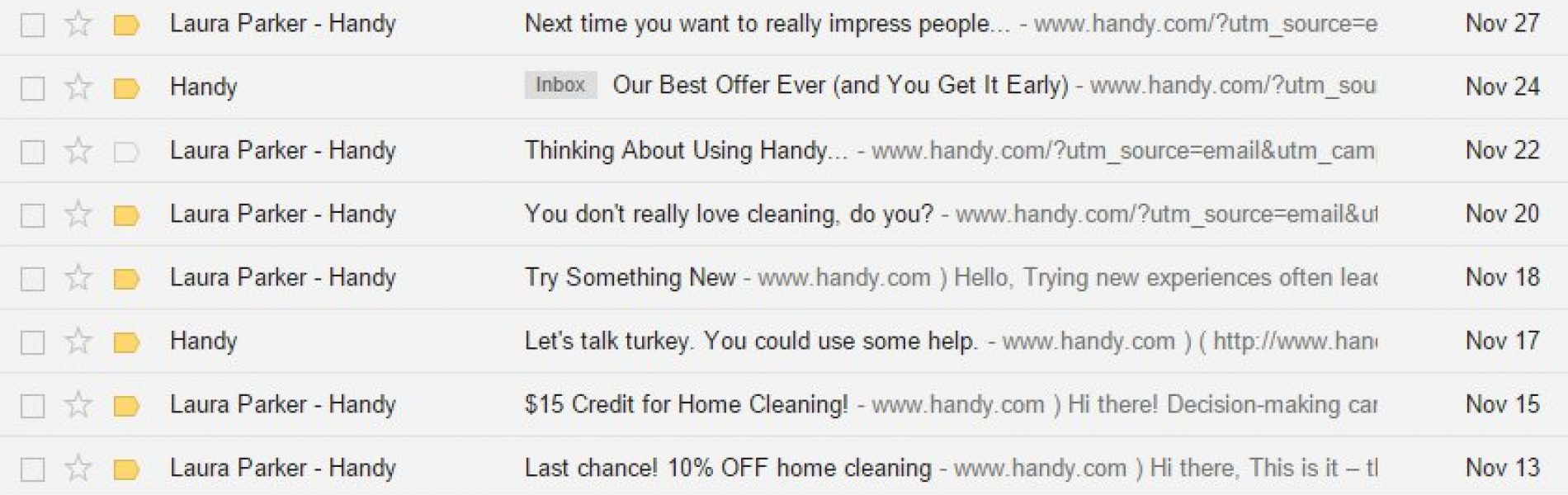 Who the F*ck is Laura Parker from @Handy?