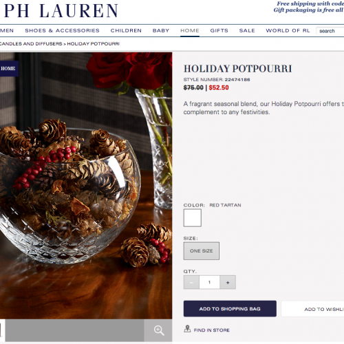 Silly @RalphLauren, You're scamming people on Holiday Potpourri