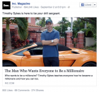 Timothy Sykes is here to be your drill sergeant.  Posted by Inc. Magazine on Wednesday, September 2, 2015