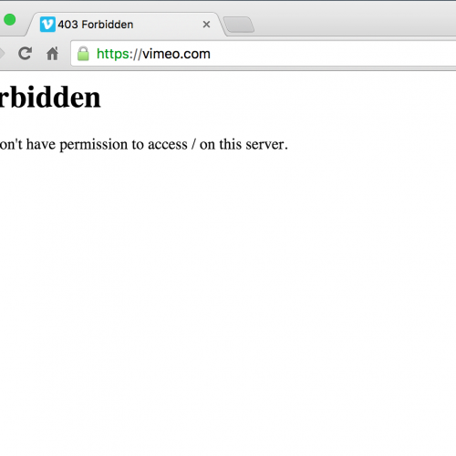 Is Vimeo.com Down or is it just me?