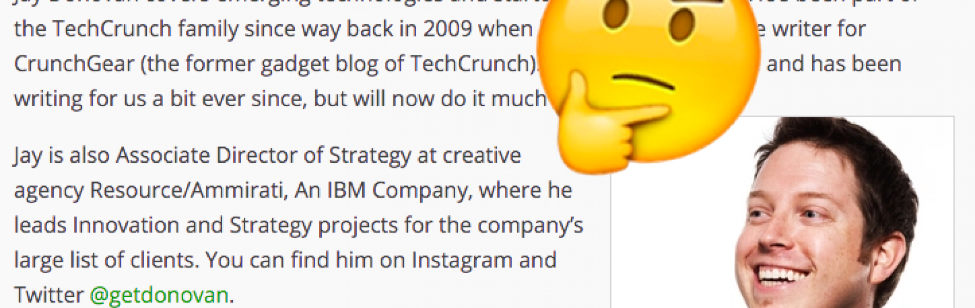 TechCrunch Validates Our Existence by hiring a Tech Advertiser as a Writer