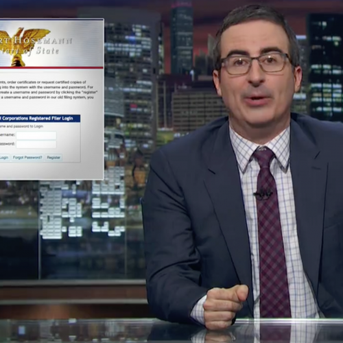 The Website John Oliver used to buy dept