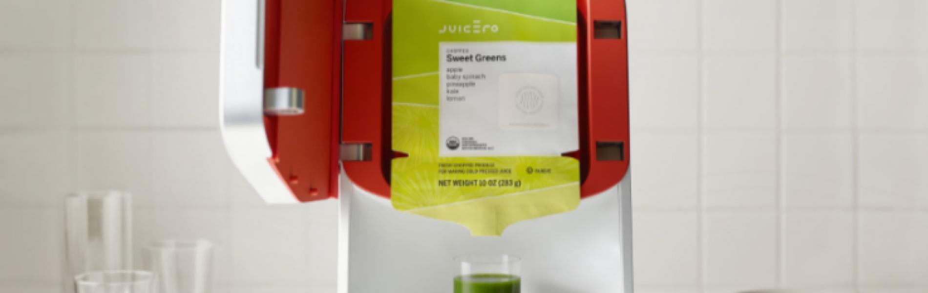 Juicero, the overpriced juicer $350 > $699 >$399 + $$$